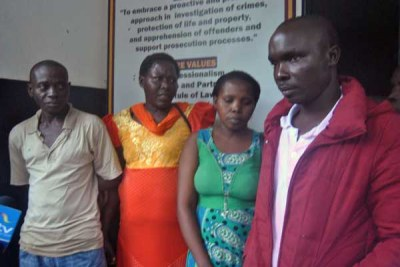 Some of the parents of the 13 youths who were rescued by the Kenya Defence Forces from Al-Shabaab at Malindi Police Station, on May, 1, 2018.