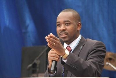 Opposition leader Nelson Chamisa (file photo).