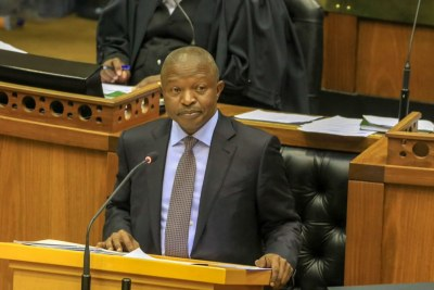 David Mabuza in the National Assembly (file photo).