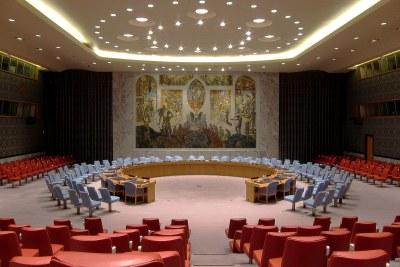 Salle du Conseil de sécurité des Nations Unies à New York.