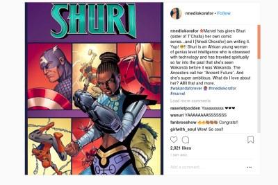 Nnedi Okorafor to write standalone book on Black Panther's Shuri.