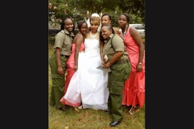 Ruth Kamande (in wedding dress) shot to infamy in October 2015, when she was charged with the murder of her boyfriend. She has now been convicted.