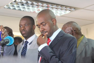 MDC Alliance leader Nelson Chamisa (file photo).