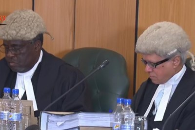 Zimbabwe Constitutional Court hearing.