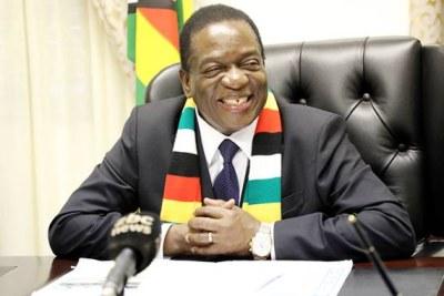 Zimbabwe President Emmerson Mnangagwa (file photo).