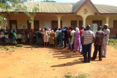 Voters in the Osun governorship election.