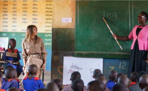 Melania Trump In Five-Hour Whistlestop Visit to Malawi