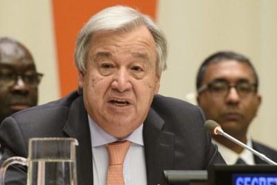 Le Secrétaire général de l'ONU António Guterres.