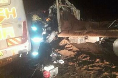The scene of the accident at Lukenya in Athi River, Machakos County, that left two people dead, November 11, 2018.
