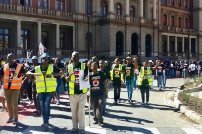 Residents of mining communities picketed outside the Pretoria High Court in April in support of the Right To Say No to Mining Campaign (file photo).