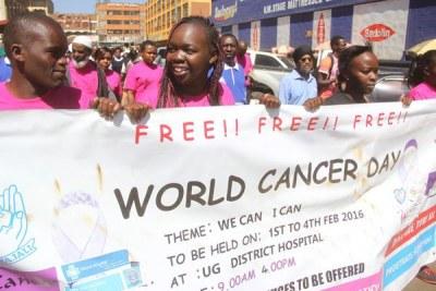 Residents of Eldoret mark World Cancer Day on February 4, 2016 (file photo).