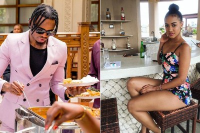 Bongo music star Diamond Platnumz. RIGHT: NRG radio presenter Tanasha Donna.