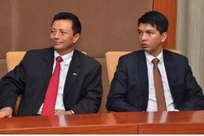 Les deux anciens chefs d'Etat, Andry Rajoelina et Marc Ravalomanana