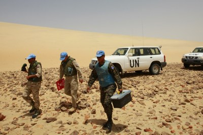 UN forces in Western Sahara (file photo).