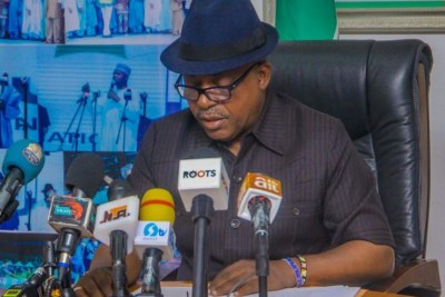 The National Chairman of the opposition Peoples Democratic Party (PDP), Prince Uche Secondus.