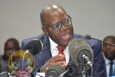 Opposition politician Tendai Biti (file photo).