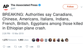 Africans Angry at Western Media Coverage of Ethiopian Plane Crash