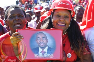 Nelson Chamisa supporters (file photo).