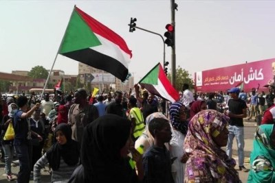 Protests in Khartoum (file photo).
