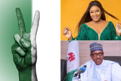 Buhari's aide, Omotola clash over state of Nigeria.
