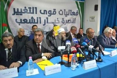 Conférence de presse de l'opposition algérienne