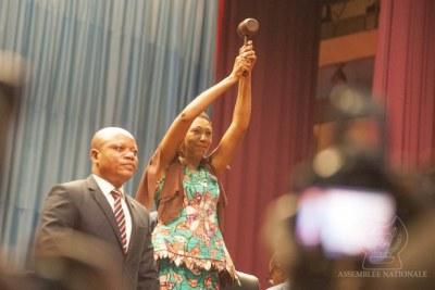 Jeanine Mabunda, députée du parti de l'ancien président RDC Joseph Kabila, a été élue présidente de l'Assemblée nationale.