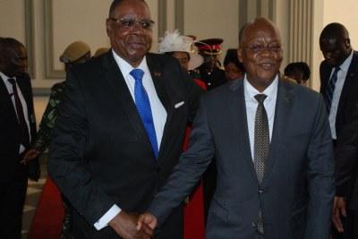 Malawi President Peter Mutharika and Tanzanian President John Magufuli
