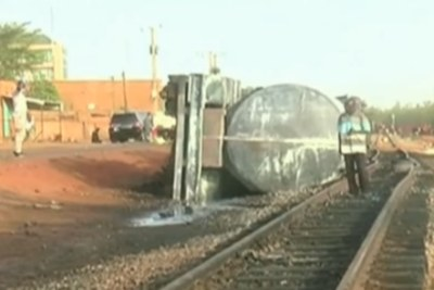 Fifty-eight people died in Niger's capital, Niamey, overnight, when an overturned tanker truck exploded.