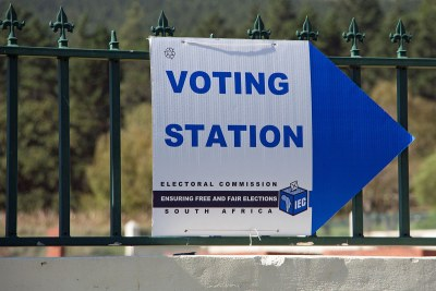 Voting day in the 2014 general election, Paradyskloof, Stellenbosch, South Africa.