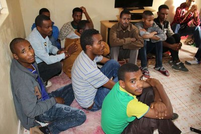 Ethiopians arrested in Kahawa West for being in the country illegally (file photo).