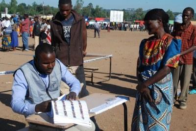 Vote à Goliati à Thyolo au Malawi - archive
