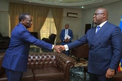 Sylvestre Ilunga Ilunkamba, nouveau Premier Ministre a été reçu par le Président Tshisekedi le 20 mai 2019