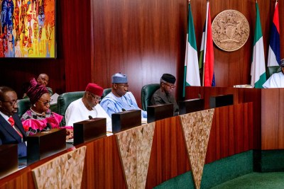 President Muhammadu Buhari presides over Valedictory Meeting of the Federal Executive Council at the State House, Abuja.