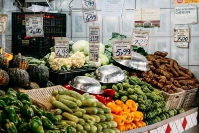 A food market in Belo Horizonte, Brazil.