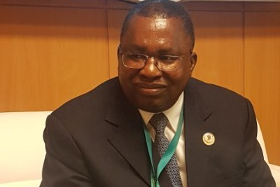 AU Commissioner for Trade and Industry Albert M Muchanga in Moscow.