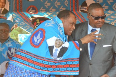 President Peter Mutharika and his Special Advisor Uladi Basikolo Mussa.
