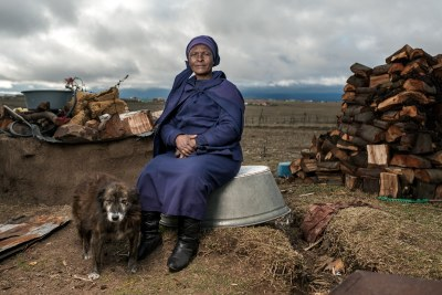 """Zwelakhe Dala died on 30 March 2015. He was 55 years old and suffering from silicosis. He worked on the gold mines for 28 years and received no compensation when he got sick. """"It is too painful. If my husband was not working on the mines, he would still be alive."""" says his wife, Nosipho (pictured)."""