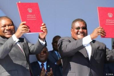 President Filipe Nyusi and Renamo leader Ossufo Momade.