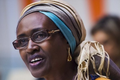 Winne Byanyima at a UN event on Women's Economic Empowerment.