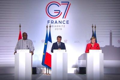 Capture d'écran - G7 Biarritz - Conférence de presse conjointe consacrée au Sahel