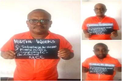 Sirleaf, Weeks Plead Not Guilty