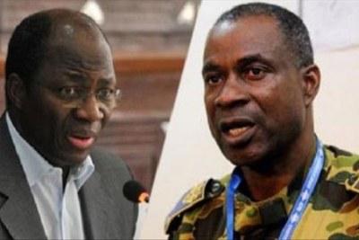 Le Général Gilbert Diendéré  et le général Djibril Bassolé
