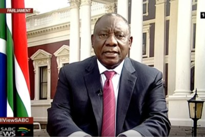 President Cyril Ramaphosa addressed the nation in a televised address on September 5, 2019.