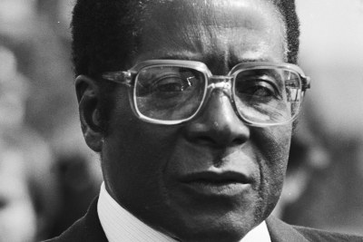 Robert Mugabe on a visit to the Netherlands in 1982.