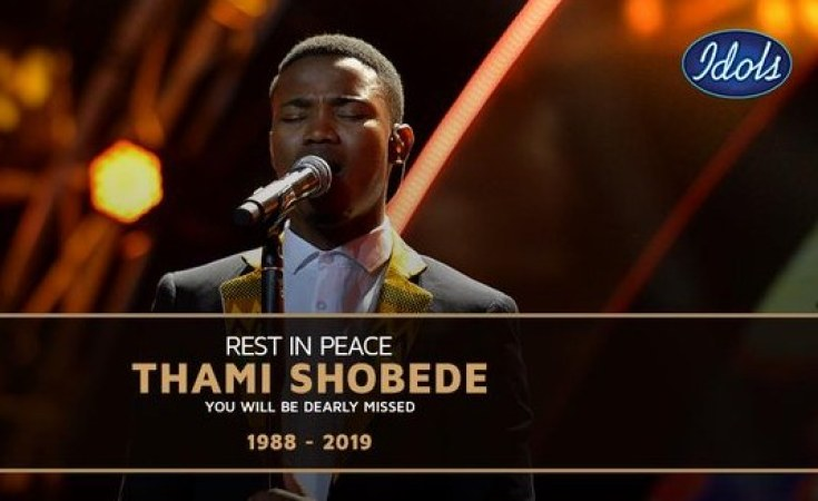'Idols SA' runner-up Thami Shobede dies at age 31