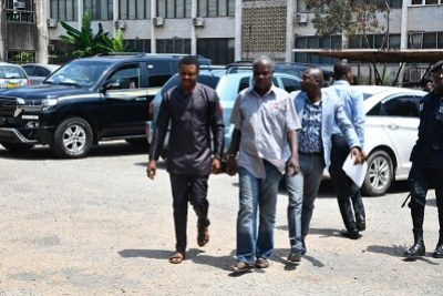 Suspected coup plotters Dr Frederick Yao MacPalm and Mr Ezor Kafui