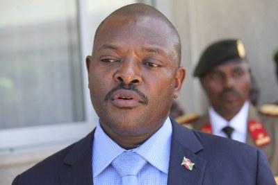 Outgoing Burudian President Pierre Nkurunziza.