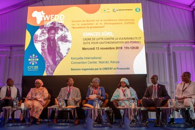 Session sur « Le Dividende démographique au Sahel »  tenue le 13 Novembre 2019 dans le cadre Conférence internationale sur la population et le développement (CIPD25) à Nairobi, Kenya.