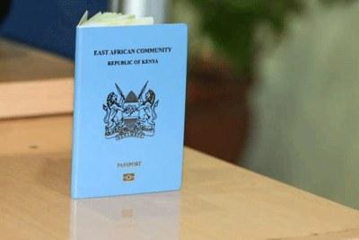 The East African Community, Republic of Kenya passport.