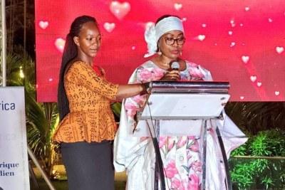 Mme Djene Kaba Condé, Première Dame de la République de Guinée lors de la cérémonie des AllAfrica Women's Agenda